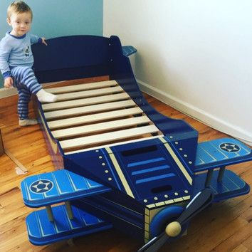 KidKraft Airplane Convertible Toddler Bed & Reviews | Wayfair