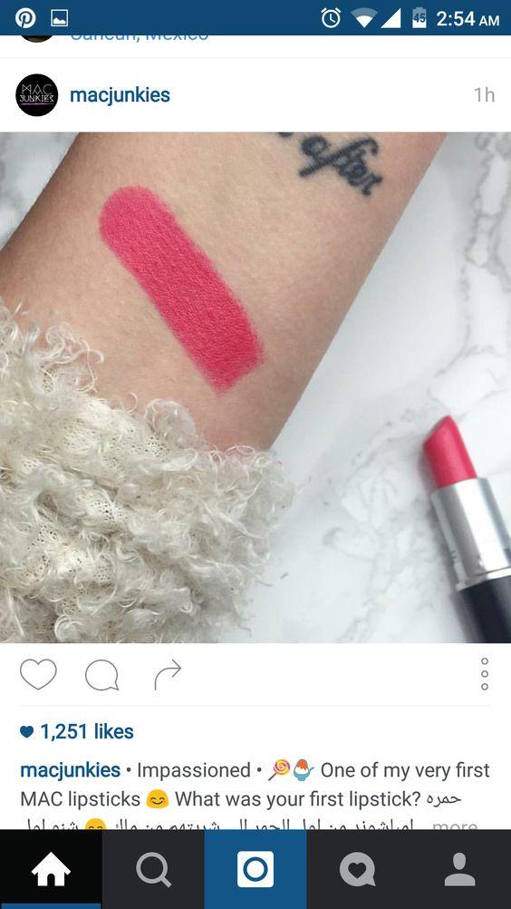#MAC #lip #swatch in Impassioned