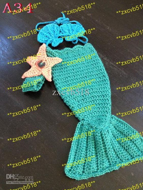 Free Crochet Mermaid Tail Pattern For Baby : Baby mermaid, Mermaid tails and Mermaids on Pinterest