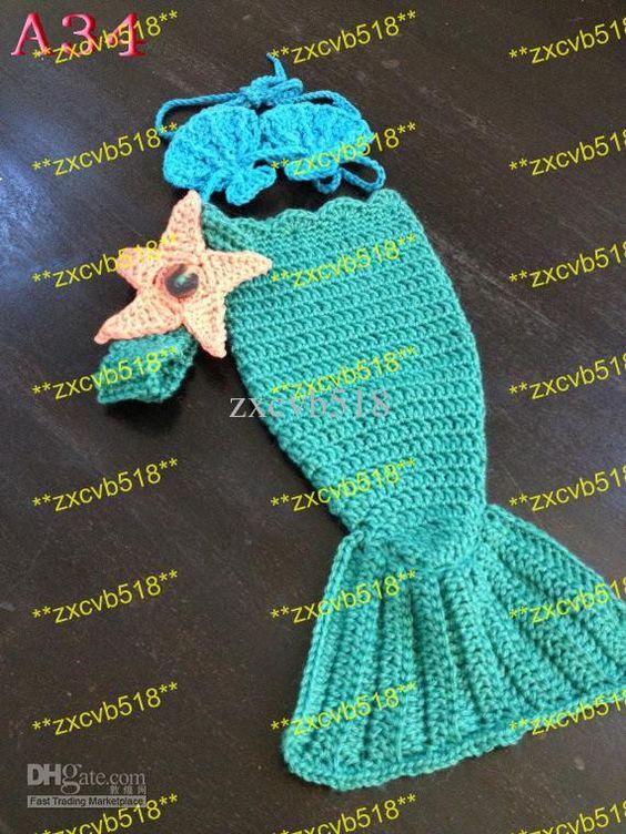 Free Crochet Pattern Toddler Mermaid Tail : Baby mermaid, Mermaid tails and Mermaids on Pinterest