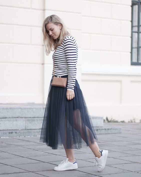 Sneakers and a tulle skirt   Style by Jules