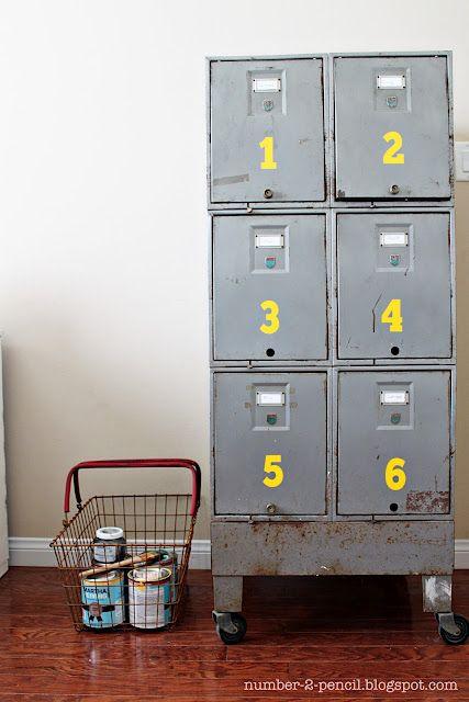 Vintage Industrial Craft Storage