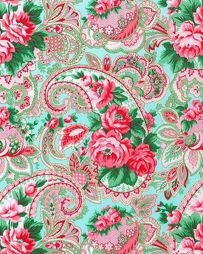 Wallpapers paisley and floral on pinterest for Paisley wallpaper