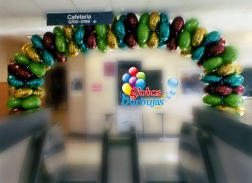 Arco de globos long lasting (larga duración) ideal para empresas.