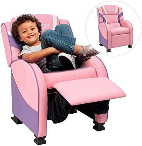 New Homall Kids Recliner Chair Lounge Furniture Boys Girls Pu Leather Single Living Bed Room Chair Children Sofa Pink Online Seetopstar In 2020 Kids Recliners Kids Recliner Chair Kids Sofa Chair