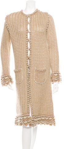 Chanel Metallic Rib Knit Cardigan #fashion #fashionaddict #ootd #outfit #statement #chanel