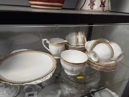 Lot 365 Mum's white & gold tea set which was a wedding present, in 10/09/16 auction
