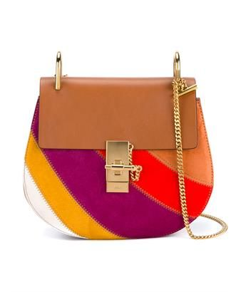 CHLOÉ - Small Suede Patchwork Drew Bag