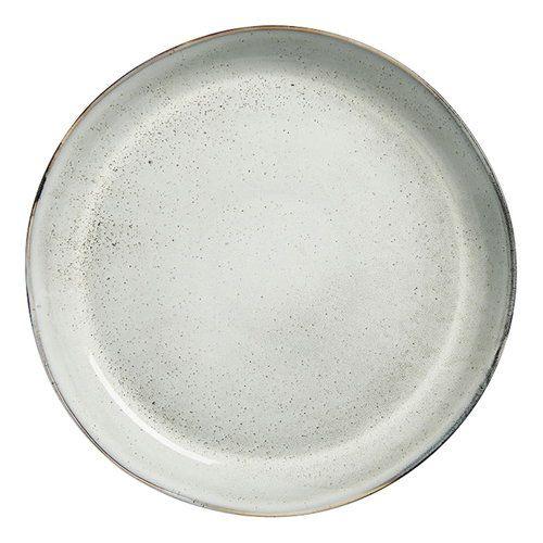Sagaform Nature Serving Plate Light Grey Nordic Design Tableware Ceramic Glazed Kitchen Serving Stoneware