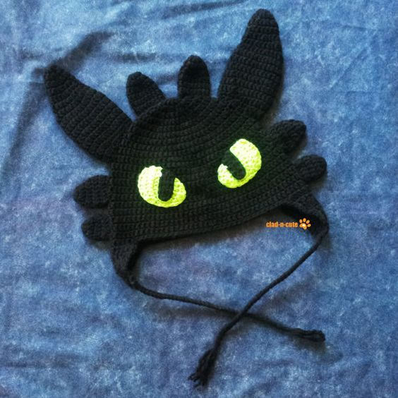 Night Fury Earflap Hat by cladncute on Etsy