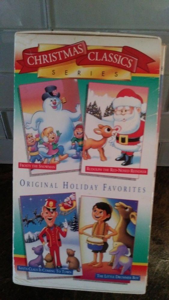 Christmas Classics Series Vhs Rudolph Frosty Drummer Boy Santa Claus Original Christmas Classics Classic Christmas Frosty