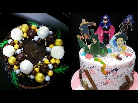تزيين الكيك اسهل طرق تزيين التورتة للمبتدئين وبابسط الإمكانيات Youtube Desserts Birthday Cake Cake