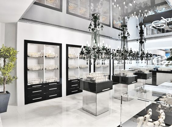 Jewelry store interior design by Timophey Vedeshkin, via Behance
