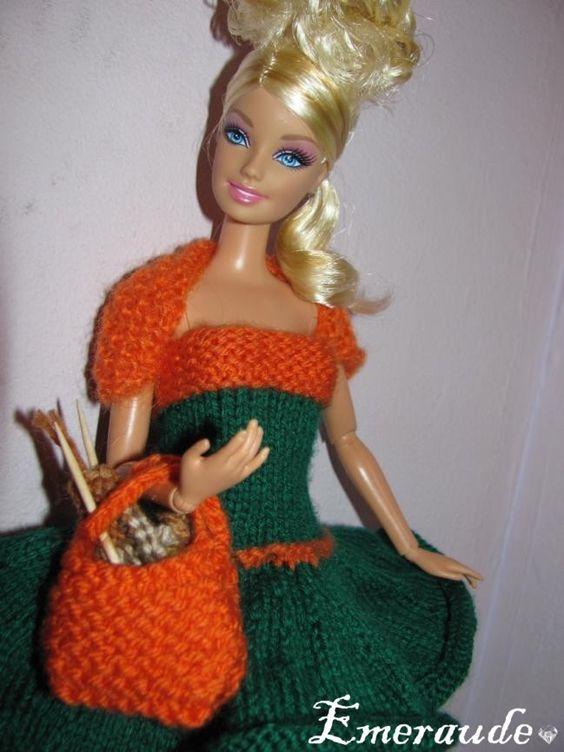 tricot accessoires n 1 pour barbie barbie pinterest barbie et tricot et crochet. Black Bedroom Furniture Sets. Home Design Ideas