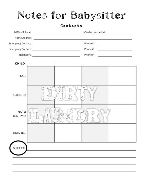 Printables Babysitting Worksheets planners babysitting and etsy on pinterest babysitter notes worksheet organizing printable planner for mom pdf digital instant download via etsy