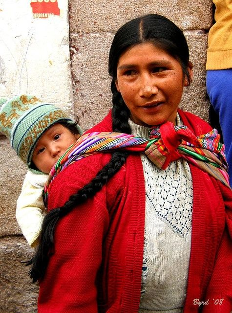 Peruvian mother and child - Cuzco by Byrd on a Wire, via Flickr