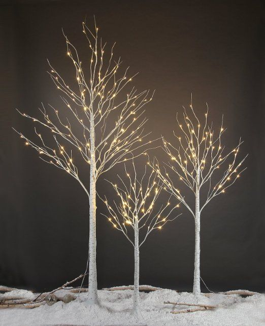 Amazon.com - Lightshare™ NEW 4FT 48L LED Birch Tree, +Free Gift:10L LED Icicle Twinkling(white/Blue)Decoration Light, Home/Festival/Party/Christmas, Indoor and Outdoor Use, Warm White -