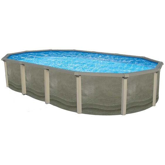 Above ground pool ground pools and resins on pinterest for Resin above ground swimming pools