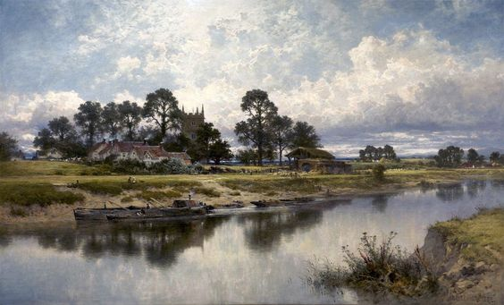 Severn side, Sabrina's stream at Kempsey on the river Severn Benjamin Williams Leader