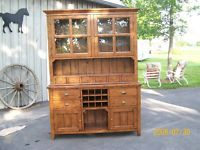 Kitchen. A RECLAIMED WOOD HUTCH WITH WINE RACK IRISH COAST for sale in Canada