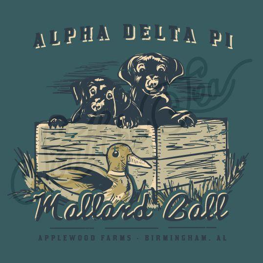 Sorority Social Alpha Delta Pi Mallard Ball Duck Puppies South By Sea