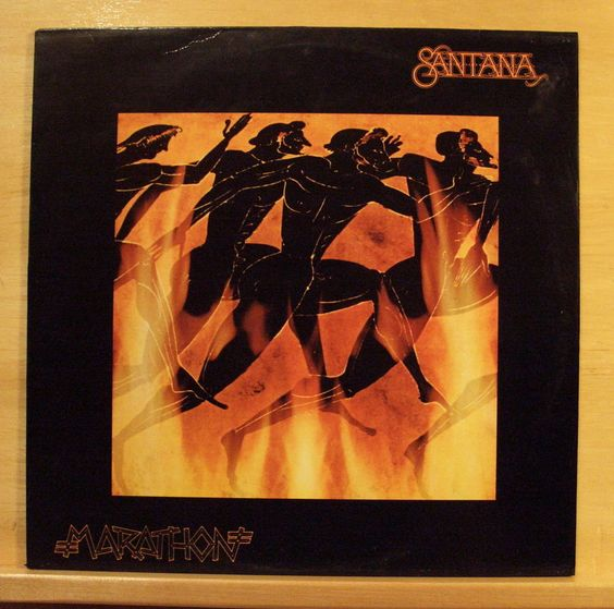 SANTANA - Marathon - mint minus Vinyl LP - Lightning in the Sky Aqua Marine Love