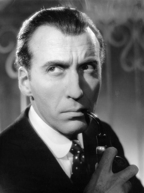 christopher lee as sherlock in sherlock holmes and the deadly necklace 1962 ドラキュラ 吸血鬼ドラキュラ 吸血鬼