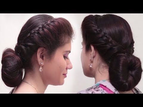 2 Quick Easy Bubble Bun Hairstyles For Saree Simple Bridal Hairstyle For Long Hair Tutoria Bun Hairstyles For Long Hair Bun Hairstyles Medium Hair Styles