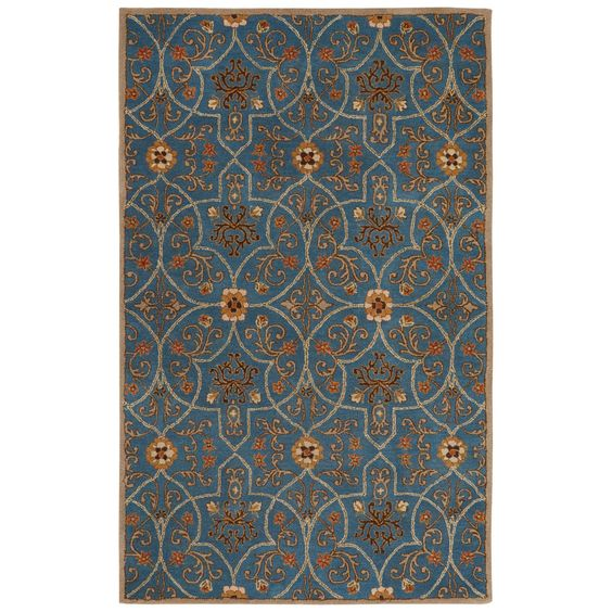 Poeme Hand-Tufted Blue Area Rug
