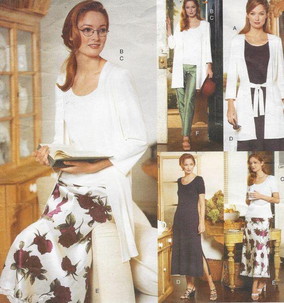 90s Vogue Sewing Pattern 1975 Womens Jacket Dress by CloesCloset