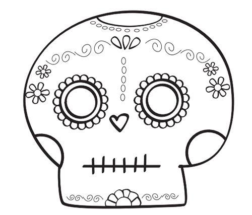 Dibujos para Colorear Calaveras día de los muertos para colorear