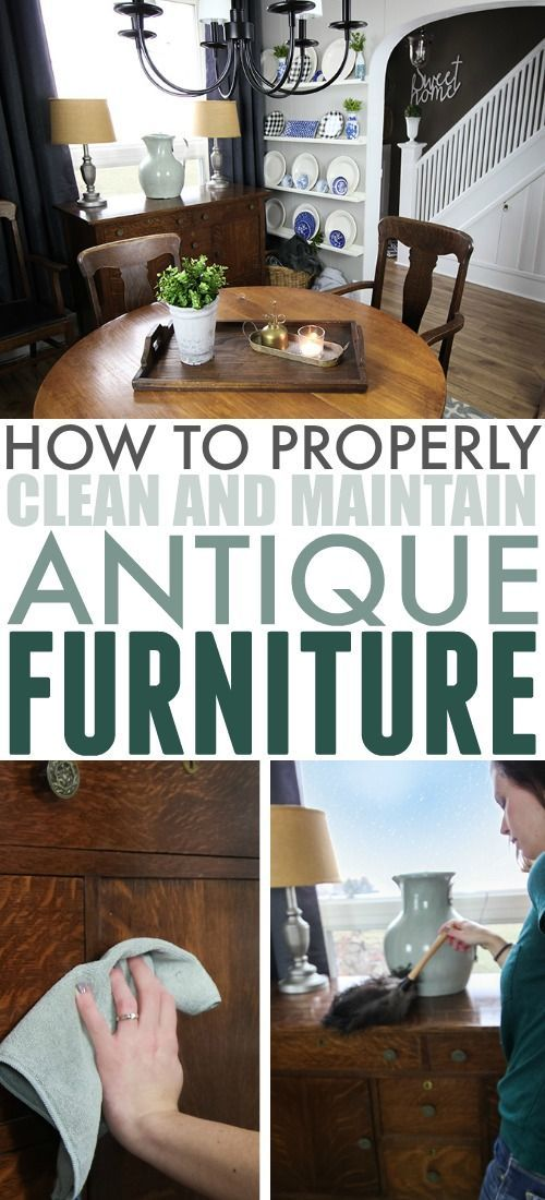 Here's a little secret from one cleaning ninja to another: Antique furniture is actually pretty much the easiest-to-maintain furniture you can own once you get rid of the layers of grime from years in storage. Here's my method for how to clean antique furniture. #CleaningTricks #CleanHome #Antiques