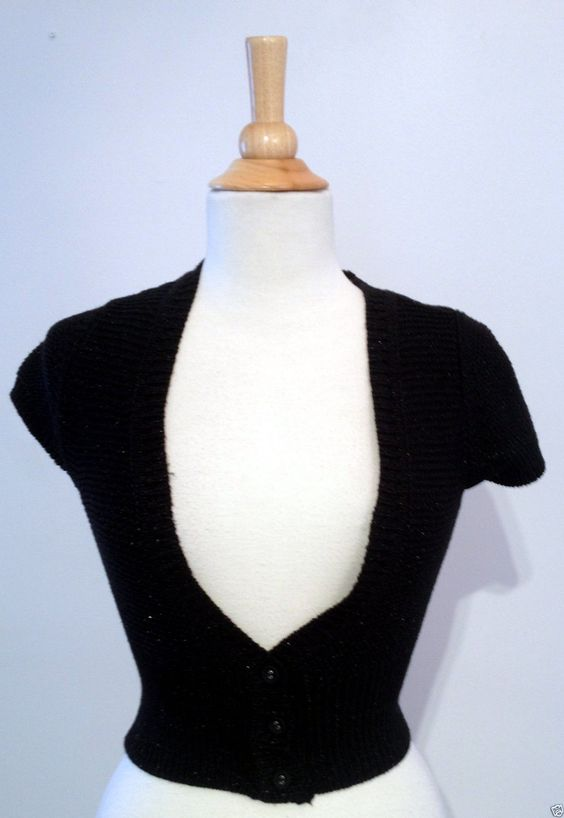 Express Black Woven Knit Batwing Cropped Cardigan Sweater Small | eBay - Recycled Couture #Fashion #Apparel #Shopping #eBay