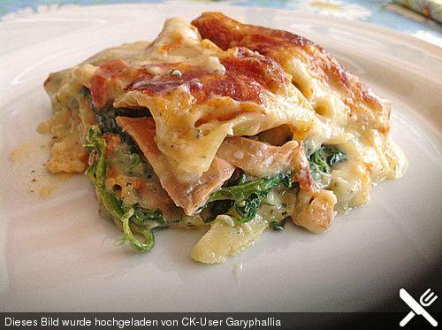 Leichte Spinat-Lachs-Lasagne (Rezept mit Bild) von Chrissi09   Chefkoch.de