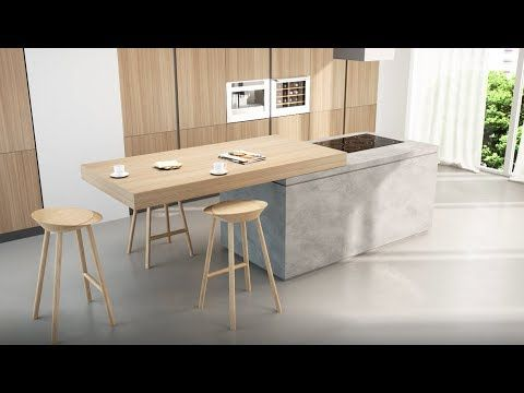 Breakfast Top Sliding Kitchen Island Extension Box15 Youtube Kitchen Island Table Modern Kitchen Kitchen Furniture