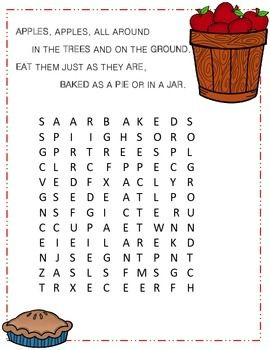 Poetry terms word search