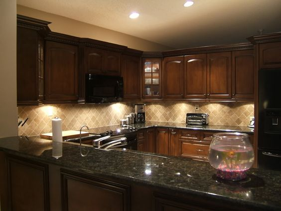 Kitchen Countertops Quartz With Dark Cabinets love the black quartz countertop with the dark cabinets and