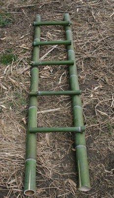 DIY Bamboo Ladder Towel Rack