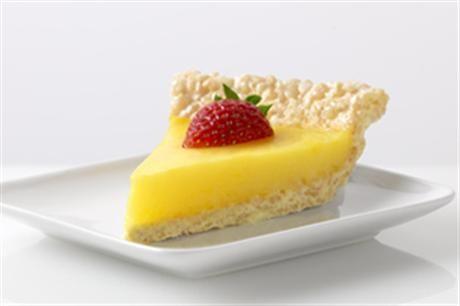 Marshmallow Crispy Lemon Pie by Jell-o (Lemon Pie with Rice Crispy ...