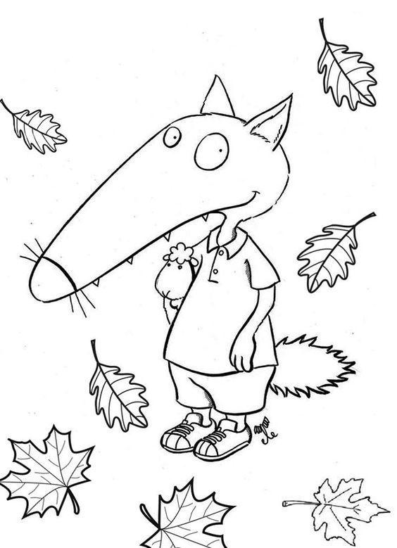 Coloriage loup automne automne pinterest - Coloriages automne ...