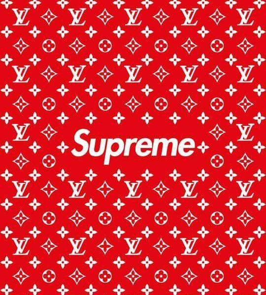 Lv X Supreme Box Logo Stencil Set Feelgood Threads Gambar Pemandangan