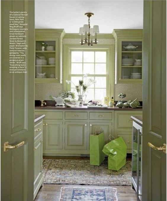 Green Kitchen Units Sage Green Paint Colors For Kitchen: Benjamin Moore Aganthus Green