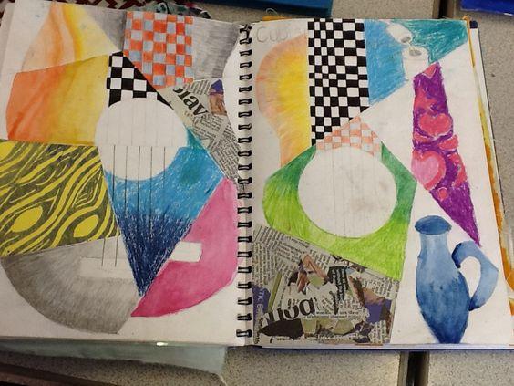 Cubism inspired still life