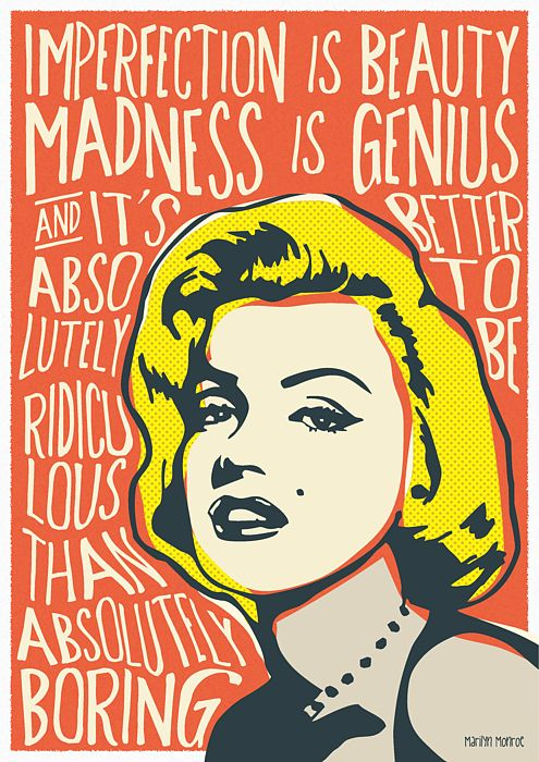Marilyn Monroe Pop Art Quote By Bonb Creative Marilyn Monroe Pop Art Pop Art Posters Marilyn Monroe Art
