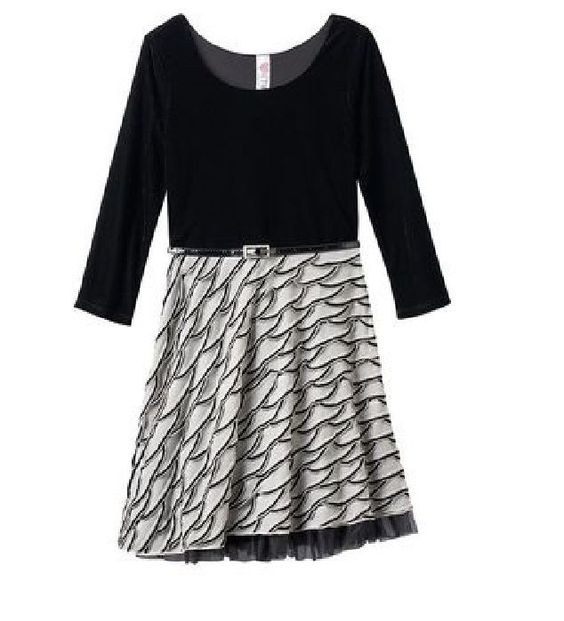 Knitworks girls dress Velvet Eyelash black white polyester spandex size 8 NEW   24.99 http://www.ebay.com/itm/Knitworks-girls-dress-Velvet-Eyelash-black-white-polyester-spandex-size-8-NEW-/331621882304?hash=item4d363459c0