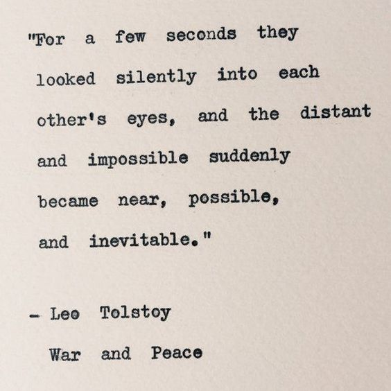 Best love Sayings & Quotes    QUOTATION – Image :    Short love quote – Description  Leo Tolstoy/ War and Peace Typewriter Quote/ by BookishGifts  Sharing is Sexy – Don't forget to share this quote with those Who Matter !
