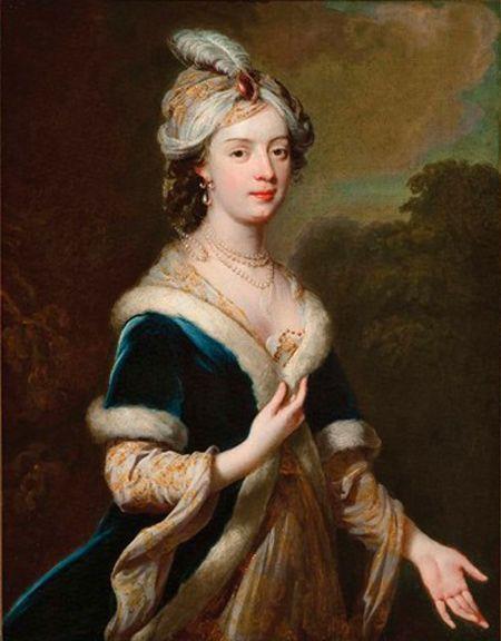 Lady Elizabeth Howard in Costume, c 1740 George Knapton: