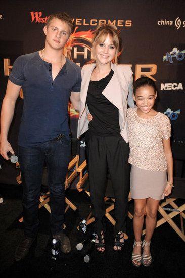 Jennifer Lawrence in Miami. Amandla/Rue is so tiny!