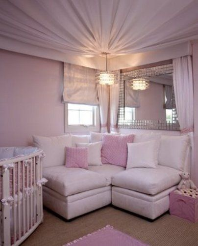Fabric Ceiling, Fabrics And Little Girl Rooms On Pinterest