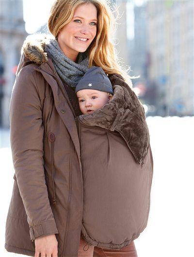 3-in-1-Jacke für die Schwangerschaft SCHWARZ+TAUPE